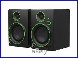 Mackie CR4BT Studio Monitor Speaker Black Green Trim Bluetooth Enabled 4 Inch