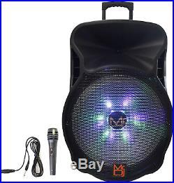 Mr. Dj DJ18BAT 18 Inch 5000W Max Power Speaker with Built-in Bluetooth & 1
