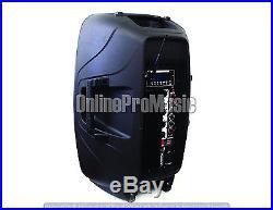 Mr. Dj PBX-2950WIFI15-Inch PA DJ Speaker with Built-In Bluetooth Wifi/EQ/LCD/usb