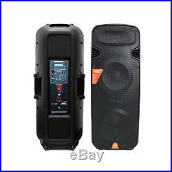 Mr. Dj PBX6300BAT Dual 15-Inch 4500-Watt Max Power 2 Way Speaker