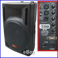 NEW -1000 Watt Powered DJ Speaker 12-inch Bi-Amp 2-Way Active Speaker System