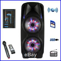 New beFree Sound 2x10 Inch Woofer Portable Bluetooth Powered PA Speaker
