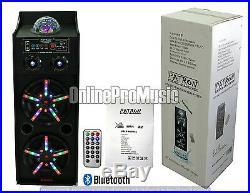 PATRON PRO AUDIO PLS-2200BT Dual 10-Inch Speaker System with FM/SD/USB/Bluetooth