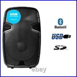PRO SPJ 15BLU 15 Inch Active DJ Loudspeaker USB SD Bluetooth MP3 FREE P&P
