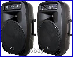 PRORECK PARTY 15 Portable 15-Inch 2000 Watt 2-Way Powered PA Speaker System