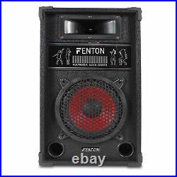Pair 8 Inch Active Bluetooth Party Speakers USB Karaoke System EQ Home DJ 600W