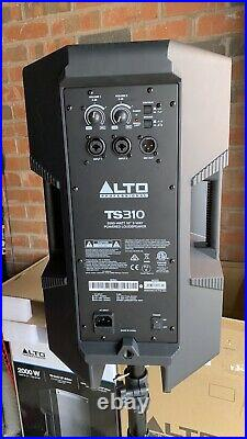 Pair of Alto Truesonic TS310 10 inch 2000W Active PA Speakers