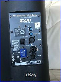 Pair of EV 8 inch ZXA-1 powered speakers. Very good condition. RRP £800 new