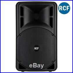 Pair of RCF ART 312-A Mk4 12 Inch Active Speakers 1600W SoundSak Carry Bags