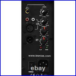 Pair of Skytec 10 Inch Active DJ Speakers 800W SoundSak Universal Carry Bags