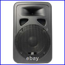 Pair of Skytec SP1200ABT 12 Inch Active Bluetooth DJ Speakers 1200W Carry Bags