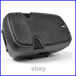 Pair of Vonyx 12 Inch Active DJ Speakers 1200W SoundSak Universal Carry Bags