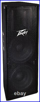 Peavey PV 215 1400 Watts Power Peak Two-Way Double 15-Inch Speakers 572170 New