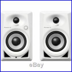 Pioneer DM-40 Active DJ Monitor Speakers PAIR WHITE 4 inch Loudspeakers
