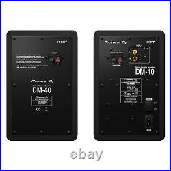 Pioneer DM40 4 inch Compact Active Monitor Speakers Pair Black