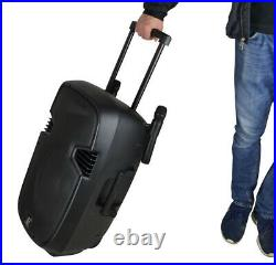 Portable Battery Powered 15 inches PA System