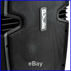 Powered Speaker Active Pa Loudspeaker Bluetooth System 12 Inch Bass Subwoofe
