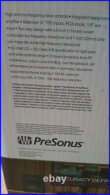 PreSonus Eris E4.5 4.5-inch, 2-way, High-Definition Active Studio Monitors Pair