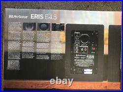 PreSonus Eris E4.5 4.5 inch Powered Studio Monitors-NIB