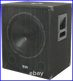 QTX Bass Bin Subwoofer QT15SA Active Sub 15inch, 600W (170.751UK), Ex Demo