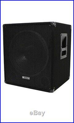 RRP £225. Grab A Bargain QTX Sound QT18SA 1000W Active 18 inch Sub Cabinets