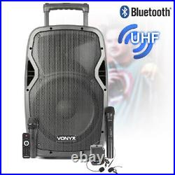Recharging Portable Speaker and Microphones Wireless BT PA Sound System 12 Inch