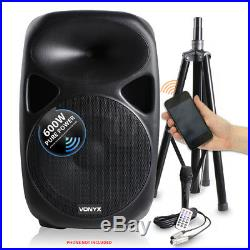 SPS 15 Inch Active Powered Sound System Speakers Mics Stands 1200W SSC2661
