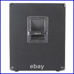 SWA15 15 Inch Active Powered Subwoofer Bass Bin Stage Club DJ PA Speaker 600W