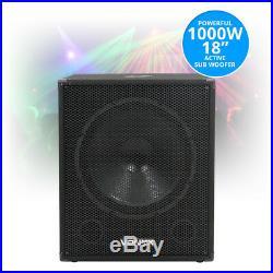 SWA18 18 Inch Active Powered Subwoofer Bass Bin Stage Club DJ PA Speaker 1000W