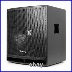 SWP15 15 Inch Active Powered Subwoofer Bass Bin Stage Club DJ PA Speaker 800W