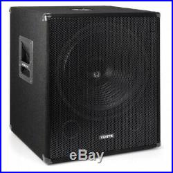 SWP18 18 Inch Active Powered Subwoofer Bass Bin Stage Club DJ PA Speaker 1200W