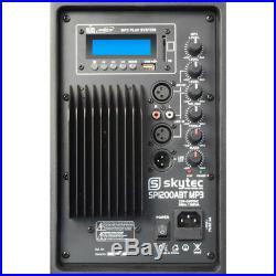 Skytec 170.318 12 Inch Active Bluetooth DJ Speaker 600W SoundSak Carry Bag
