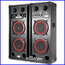 Skytec 178.446 SPB-28 Dual 8 Inch Active Passive Speaker Set 800W