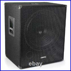 Skytec SP 12 Inch 600W ABS Powered Speaker + SWA18 Subwoofer + Pole + Cables