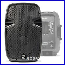 Skytec SPJ 12 Inch 800W Powered Speaker + SWA18 Subwoofer + Pole + Cables