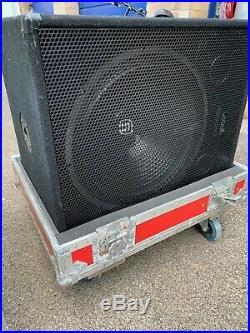 Sub Woofer 1000 Watt QTX 18 Inch sub Woofer In tropical Flightcase