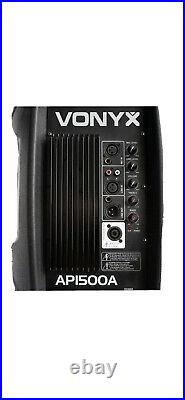 VONYX AP15A V4 Active PA 15 Inch Speaker Mobile DJ Package With Stands 1200W IPP