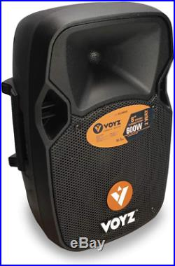 VOYZ Bluetooth Active PA Speaker System 8-Inch 600 Watt 2-Way with FM USB/SD R