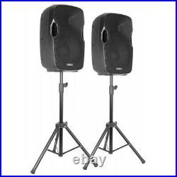 Vexus 170.118 10 Inch Active Bluetooth Mixer PA Speaker & Mics 300W