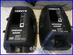 Vonyx 12 Inch Driver Active Pa / Dj Speakers Pair