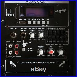 Vonyx 170.334 12 Inch Active Battery Bluetooth PA Speaker Mics 600W SSC0468