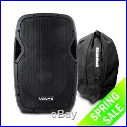 Vonyx 170.342 12 Inch Active DJ Speaker 600W SoundSak Universal Carry Bag