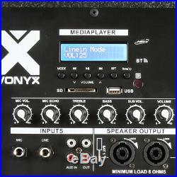 Vonyx 170.812 SMWBA15MP3 Bi-AMP Subwoofer 15inch/600W Speaker & Bluetooth