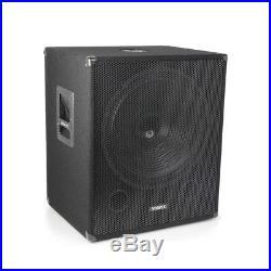 Vonyx 170.815 SMWBA18MP3 Bi-AMP Subwoofer 18inch/1000W Speaker & Bluetooth