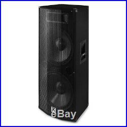 Vonyx 178.495 CVB215 PA Speaker Active 2x 15 inch BT MP3 1600W