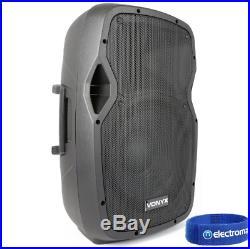 Vonyx AP1200ABT 12 Inch PA Active Powered Bluetooth Speaker 600W BT Technology